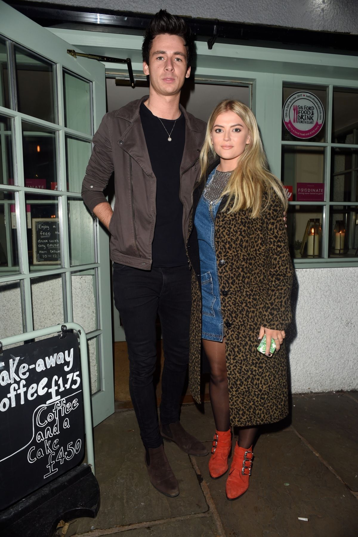 Lucy Fallon Seen enjoying a date night at Ryan Giggs restaurant Georges Restaurant in Worsley near Manchester