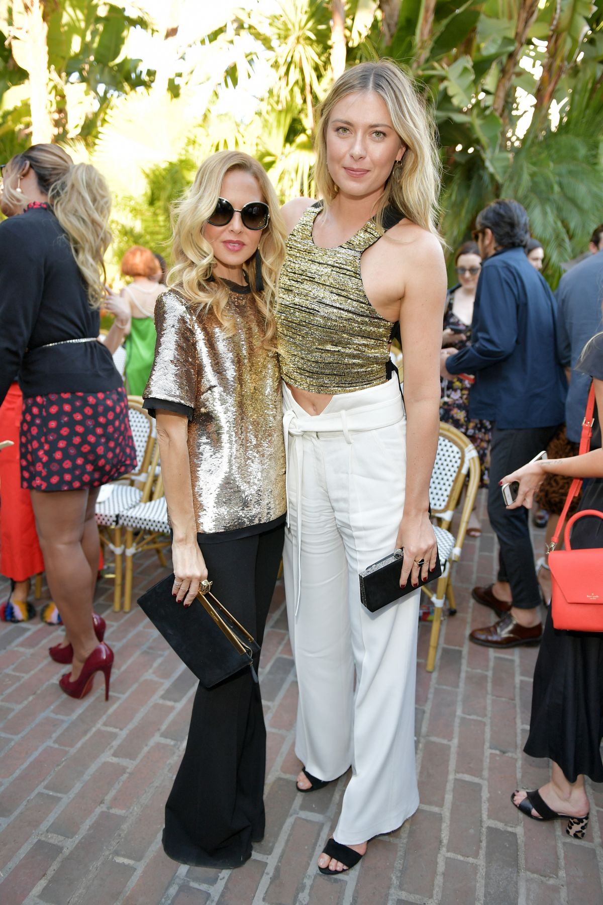 Maria Sharapova Attends CFDA/Vogue Fashion Fund Show and Tea at Chateau Marmont in LA