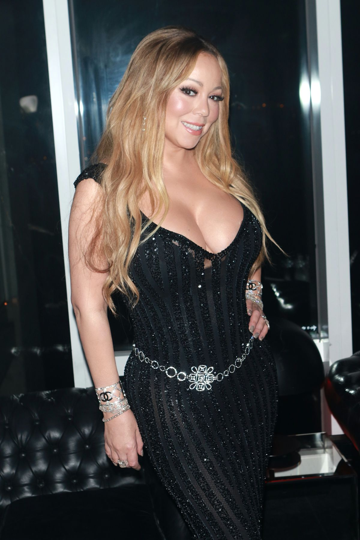 Mariah Carey Attends V Magazine honors Karl Lagerfeld after party at Le Bain in New York City