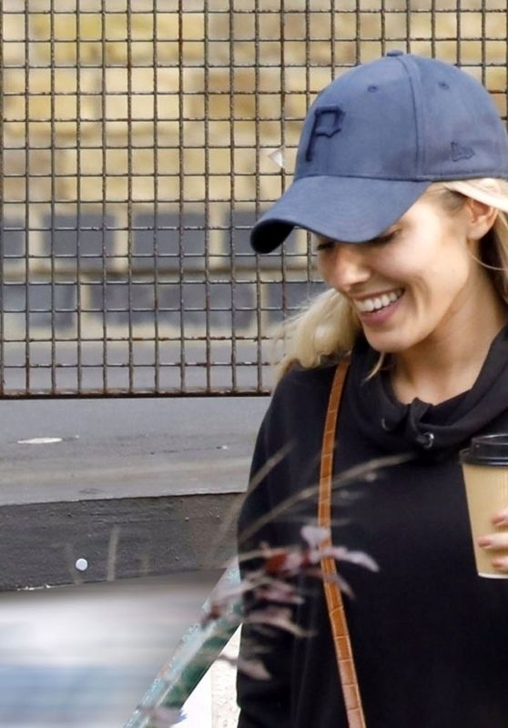 Mollie King With her dance partner AJ Pritchard both grab a hot drink together taking a break from rehearsals in London