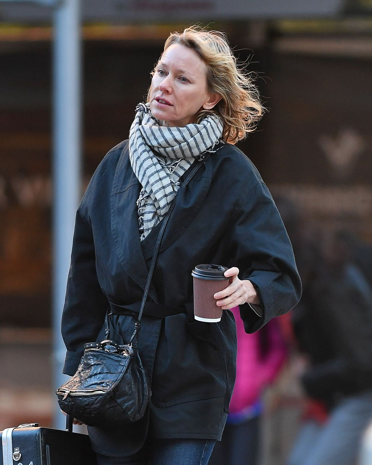 Naomi Watts Spotted taking her children to school in New York City