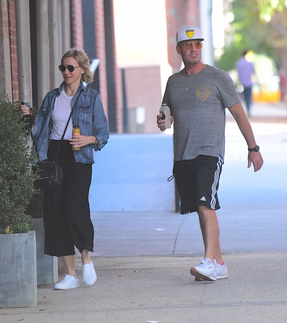 Naomi Watts Was spotted out in Tribeca on Sunday , enjoying a walk with her brother, Ben Watts