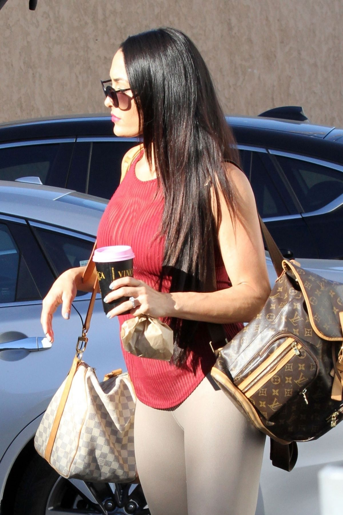 Nikki Bella Seen heading into dance practice on last time on Sunday in Los Angeles