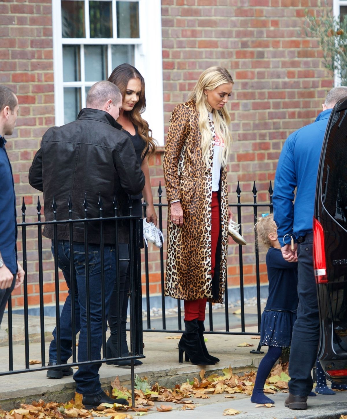 Petra Ecclestone & Tamara Ecclestone at their fathers house in London