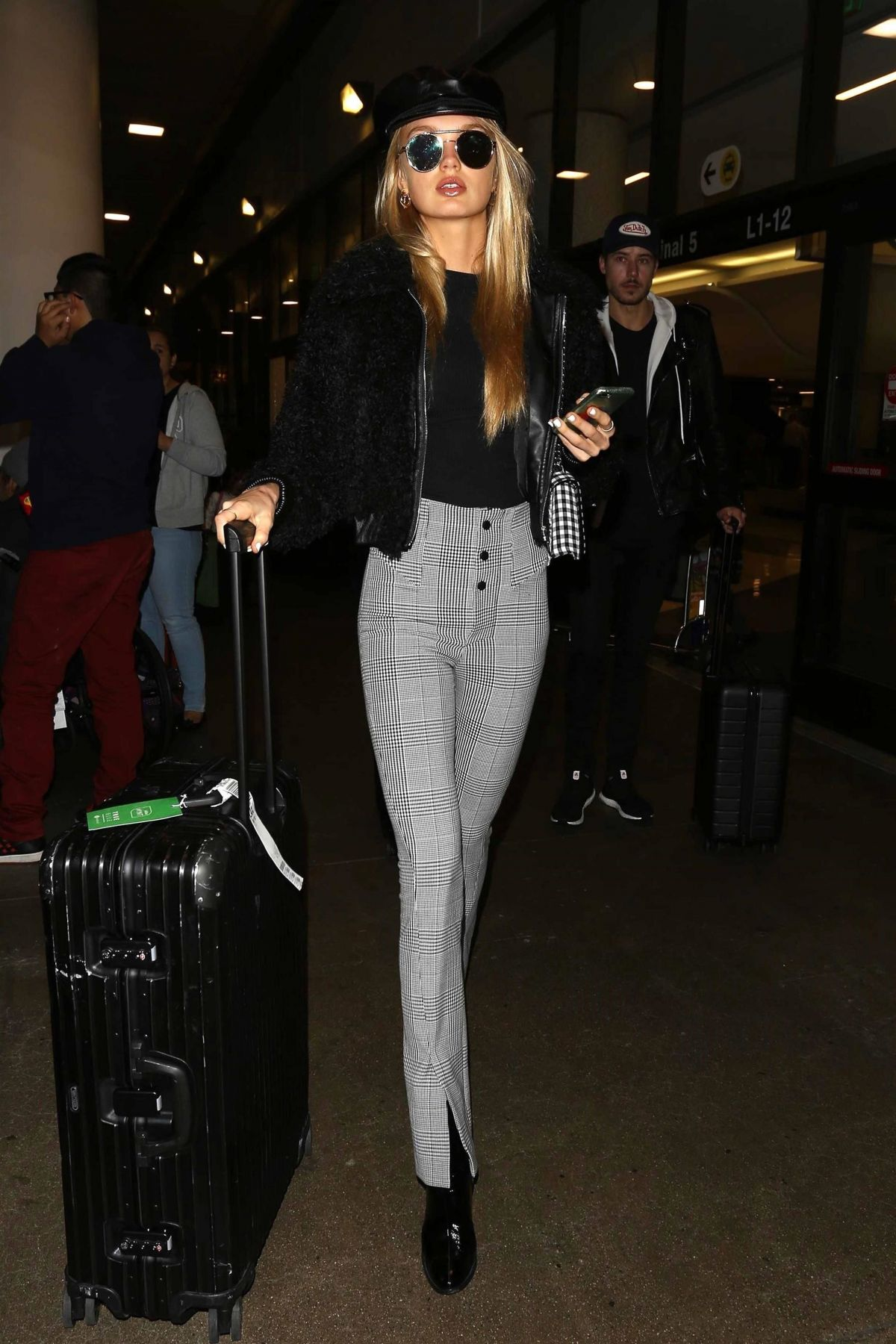 Romee Strijd Spotted at LAX Airport in LA