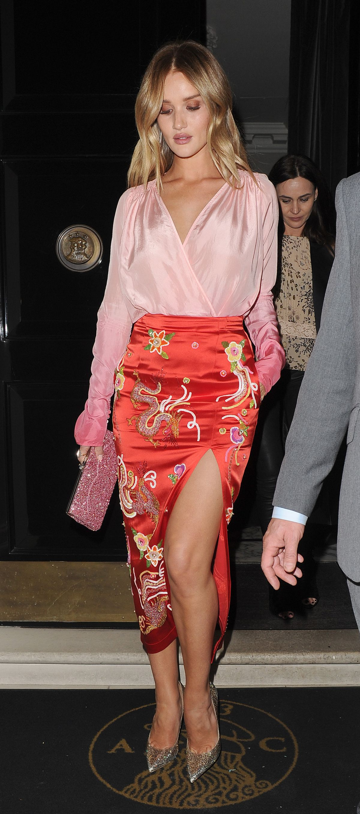 Rosie Huntington-Whiteley Leaves The Arts Club in London