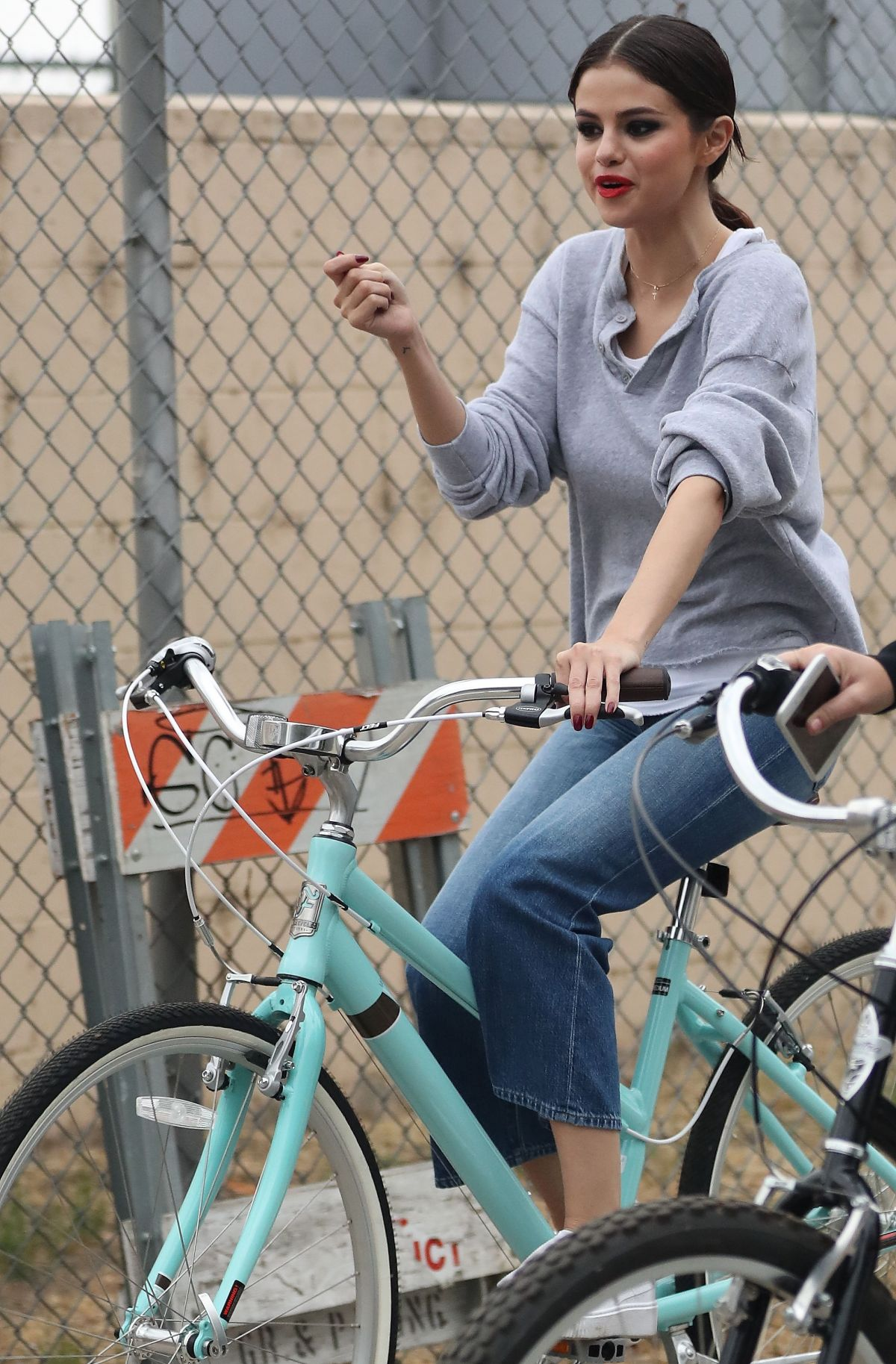 Selena Gomez Rides her bike with PA Theresa Mingus