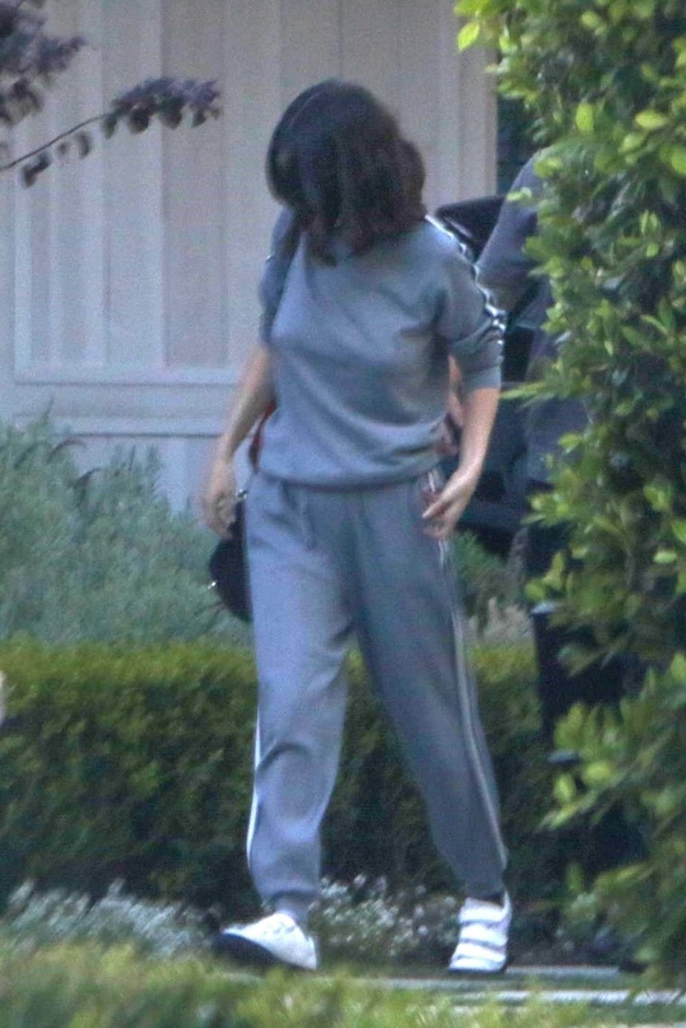 Selena Gomez Spotted outside her home at Toluca Lake