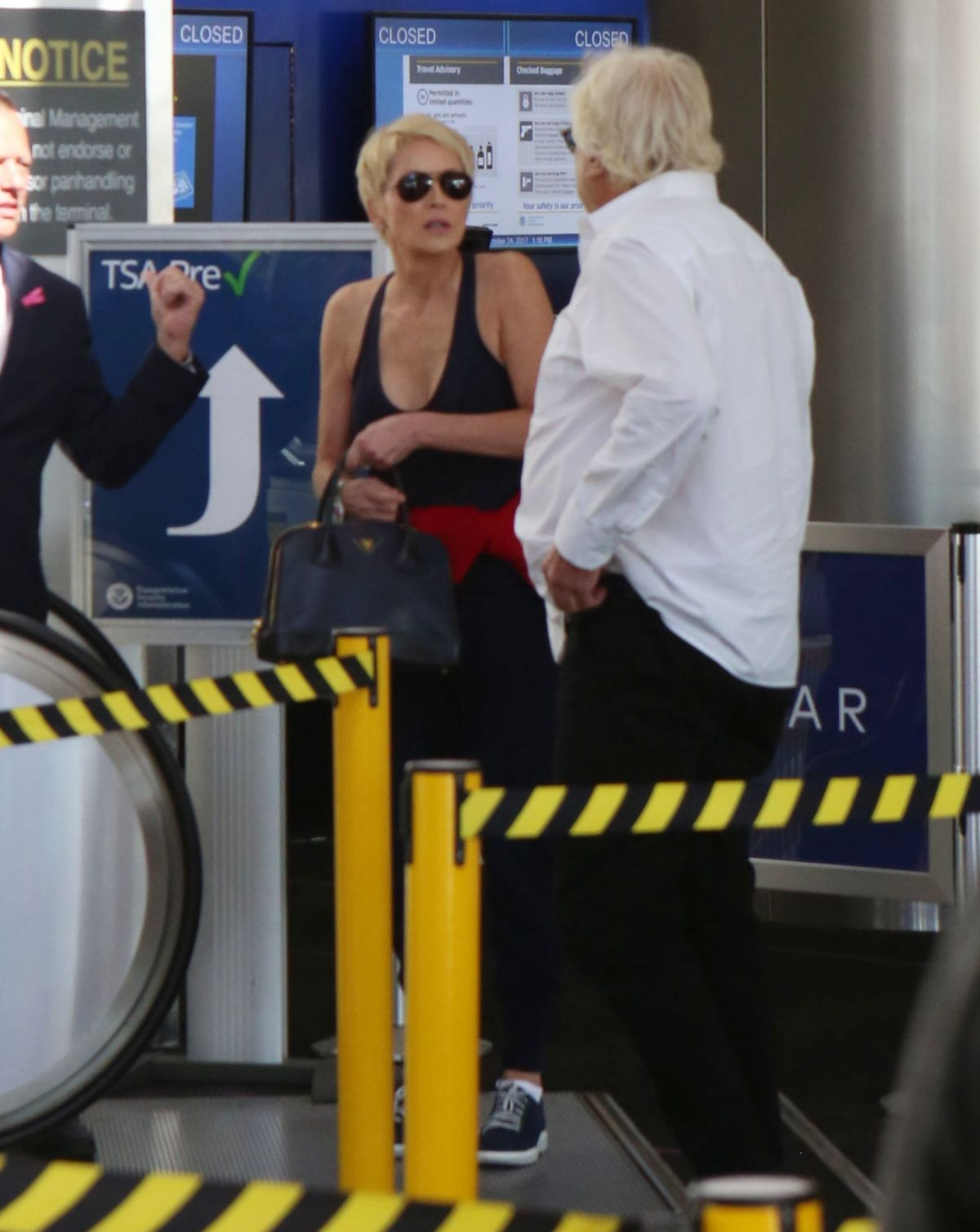 Sharon Stone Seen at the LAX airport in Los Angeles