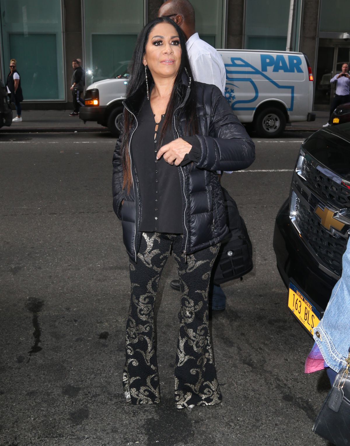 Sheila E. Seen arriving at Sirius Radio in New York City