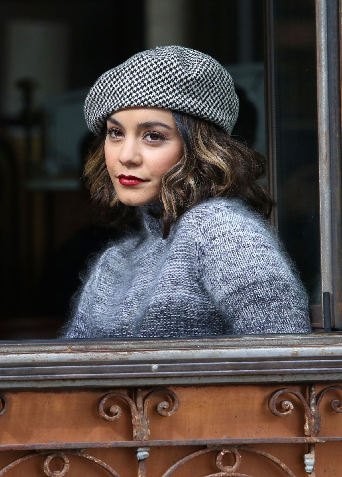 Vanessa Hudgens Filming a scene for her upcoming movie ...