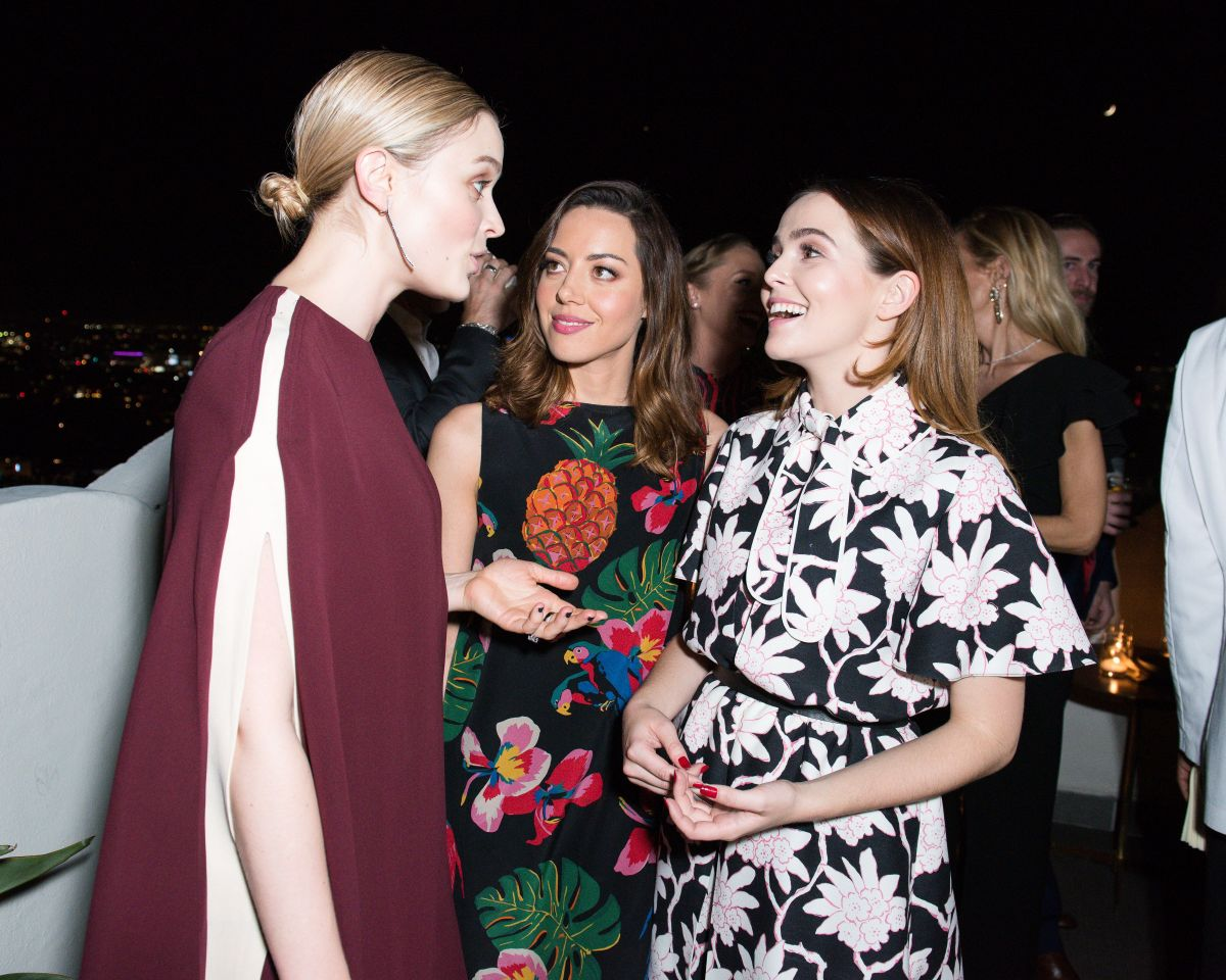 Zoey Deutch At Valentino and Instyle Cocktail Party in Los Angeles