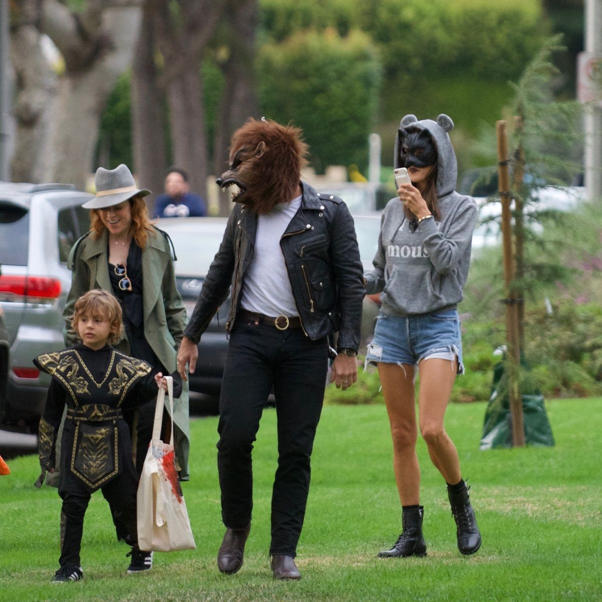 Alessandra Ambrosio And family celebrate Halloween in Brentwood