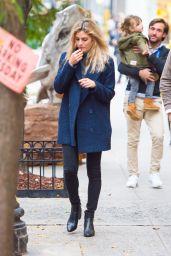 Amaia Salamanca and her partner Rosauro Varo Rodríguez are seen leaving lunch in New York City