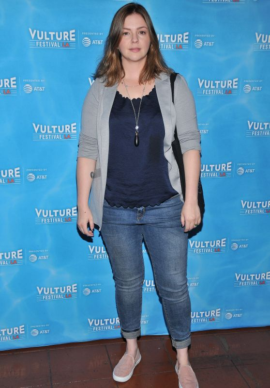 Amber Tamblyn Attend the Feminist AF Panel during Vulture Festival LA Presented by AT&T in Hollywood