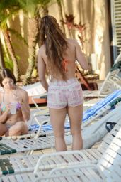 Anais Zanotti and Nicole Cardia In Bikinis at a Pool in Miami