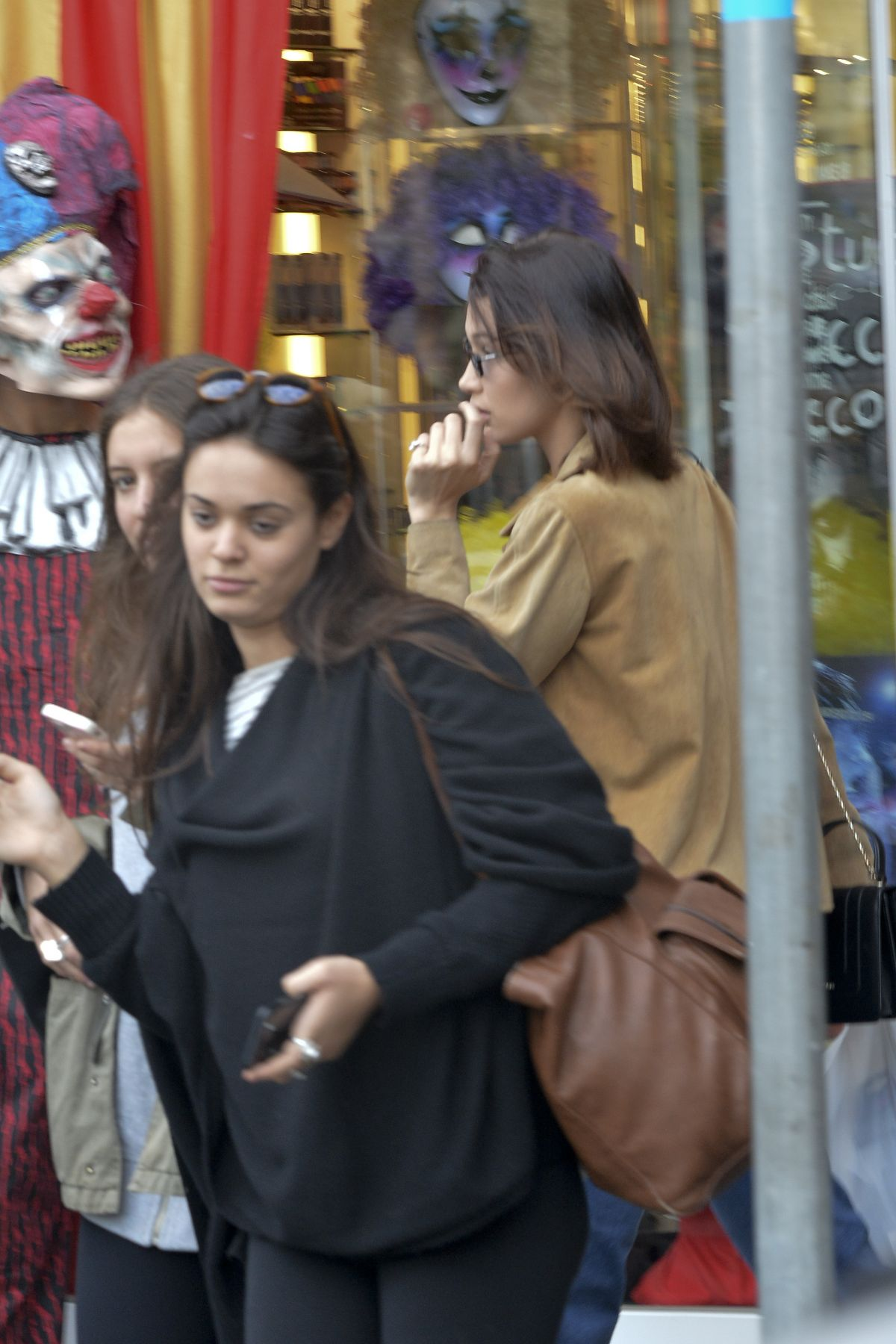 Bella Hadid Goes shopping for a Halloween party with her friend in Rome, Italy