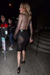 Brandi Glanville Wears a see through outfit as she leaves dinner at