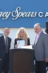 Britney Spears At Nevada Childhood Cancer Foundation Britney Spears Campus Grand Opening
