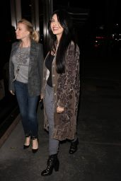 Brittny Gastineau and her mother head to Madeo restaurant for dinner in West Hollywood