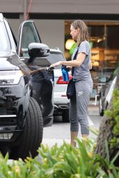Calista Flockhart Is seen leaving SoulCycle in Brentwood