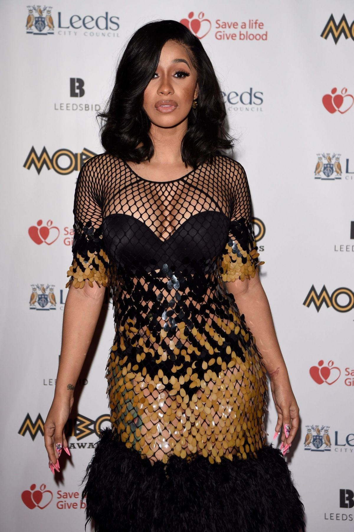 Cardi B At The MOBO Awards at The First Direct Arena in Leeds - Celebzz