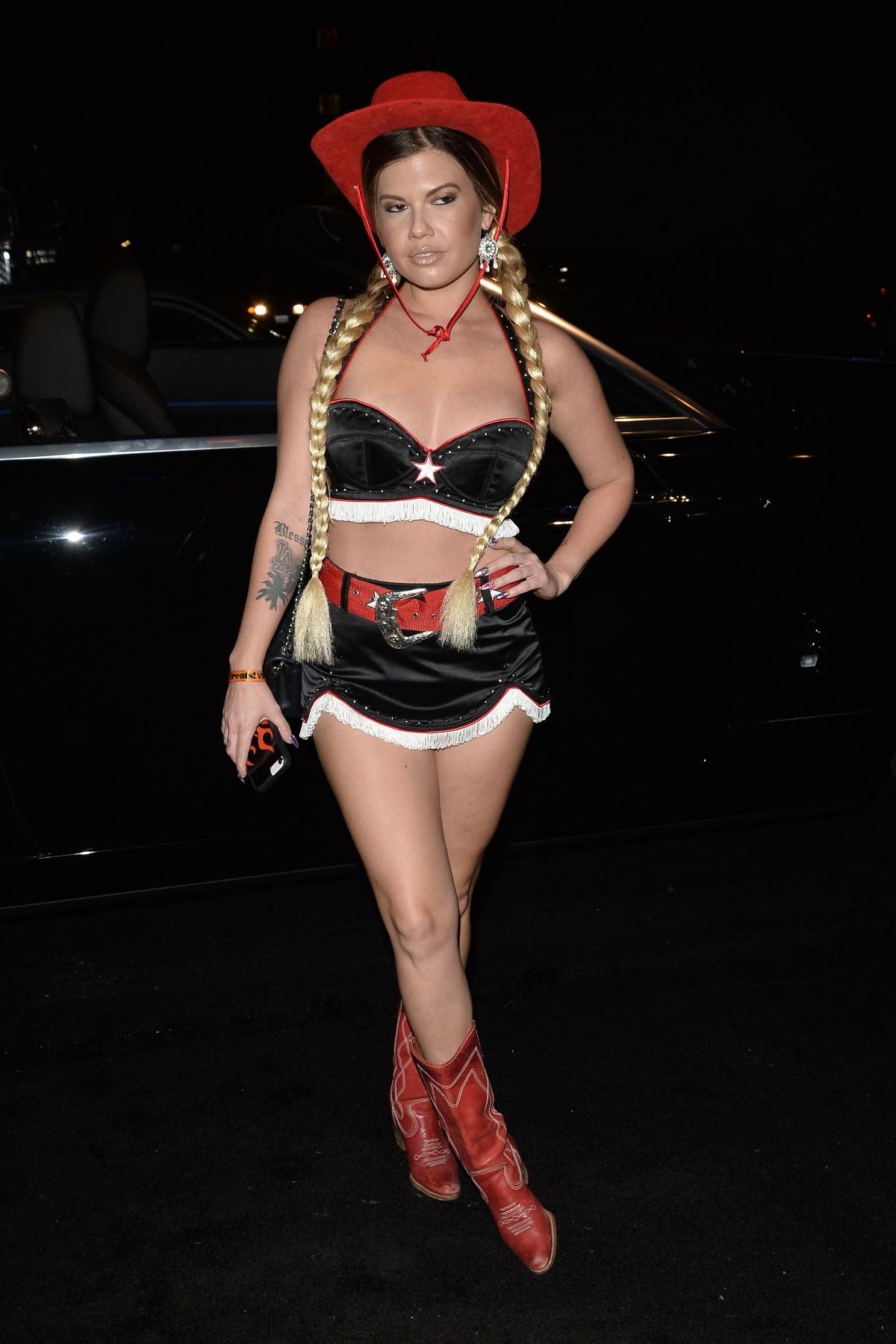 Chanel West Coast Arrives to Treats Magazine Halloween Party in LA
