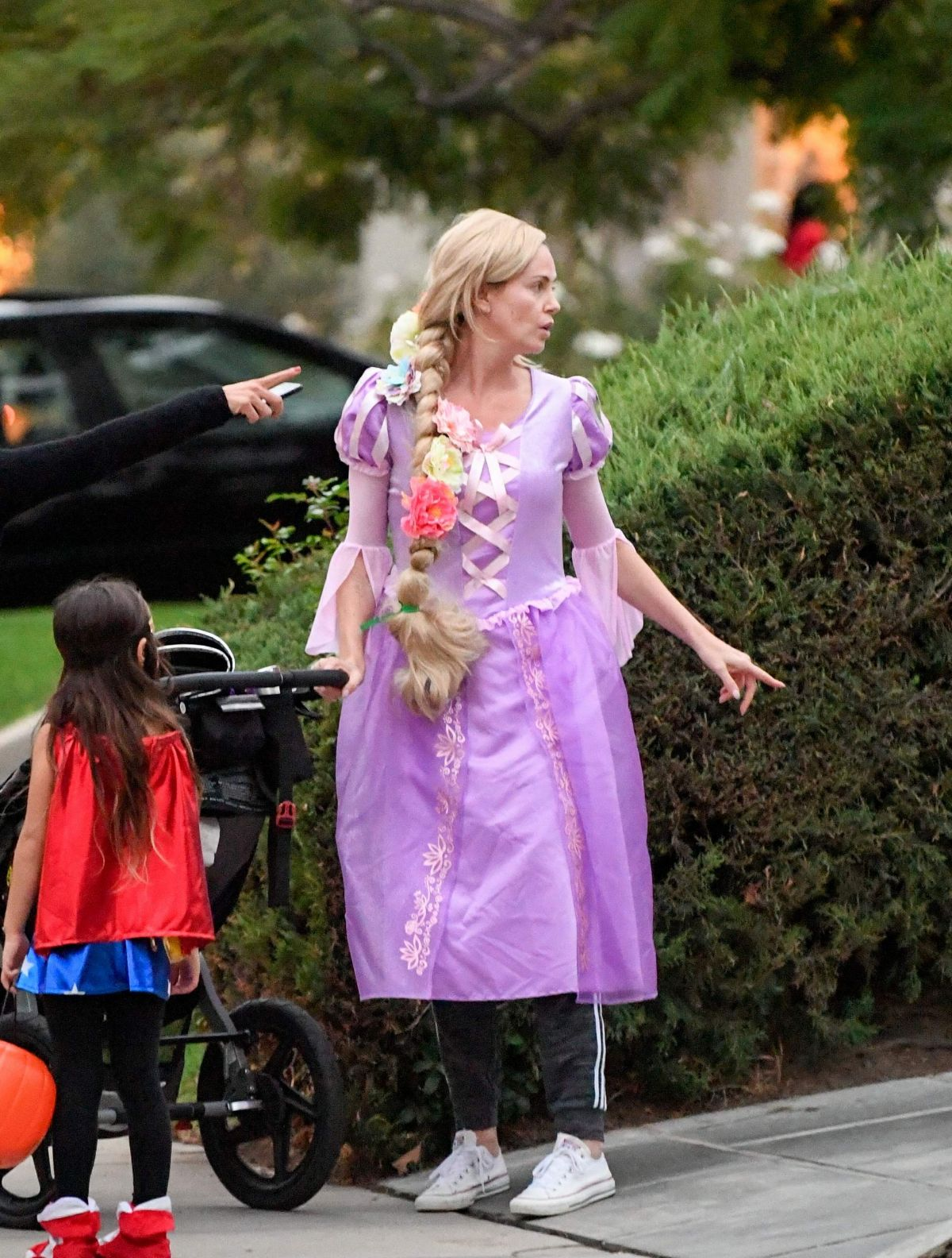 Charlize Theron Attends a Halloween party in LA