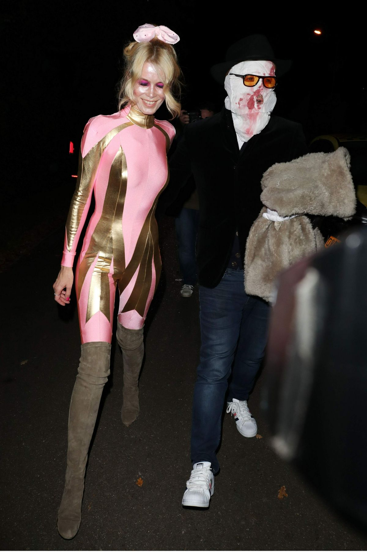 Claudia Schiffer At Jonathan Ross Halloween Party in London