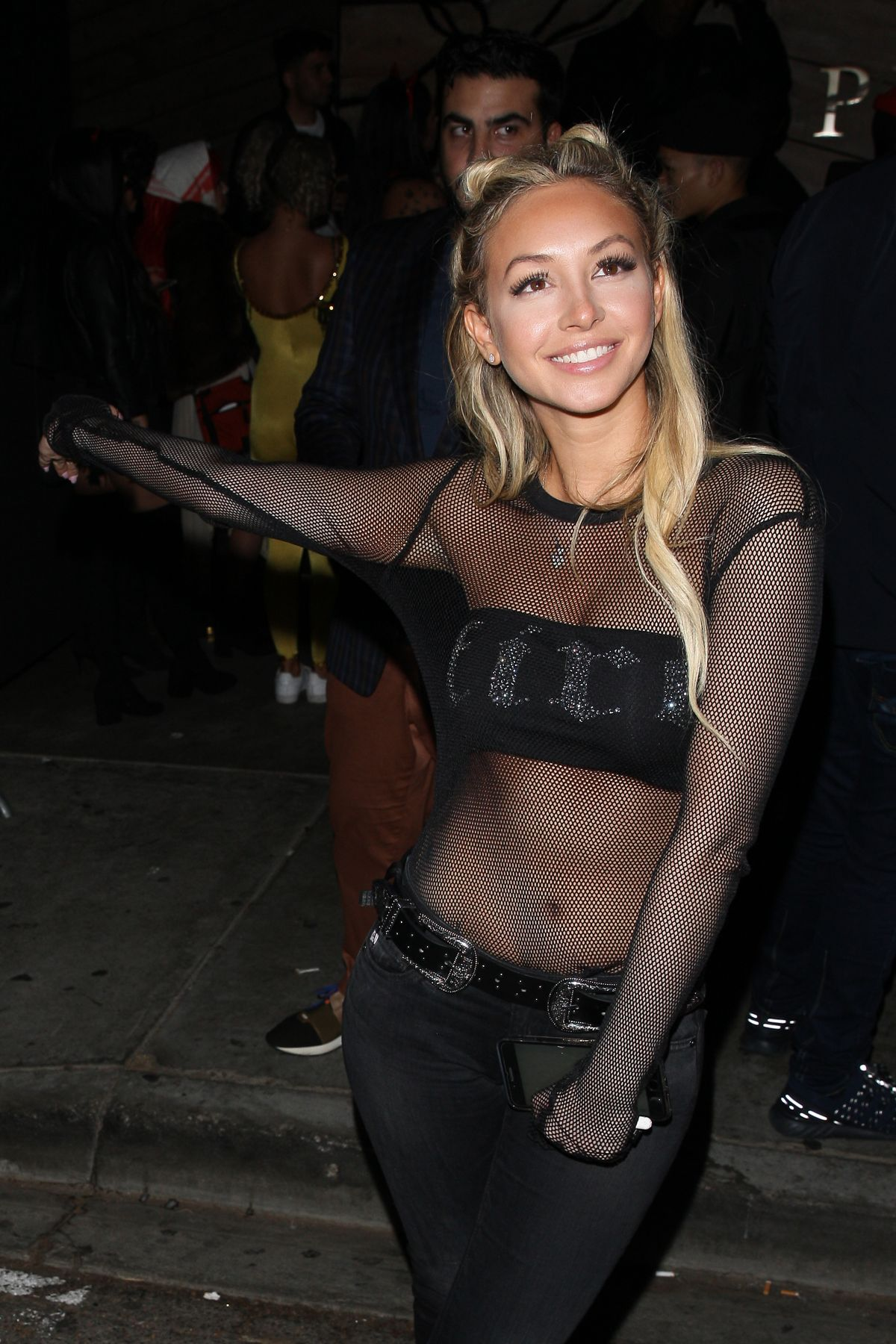 Corinne Olympios Parties at the Poppy club with her friend in West Hollywood