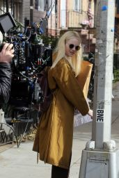 Emma Stone Spotted shooting scenes on the set of