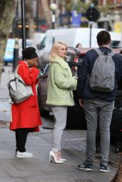 Grace Chatto From band Clean Bandit seen at Capital radio in London