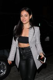 Inanna Sarkis Wears a grey blazer jacket as she heads to Catch restaurant in West Hollywood
