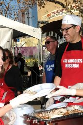 Jen Lilley At the Los Angeles Mission Thanksgiving Meal for the homeless at the Los Angeles Mission