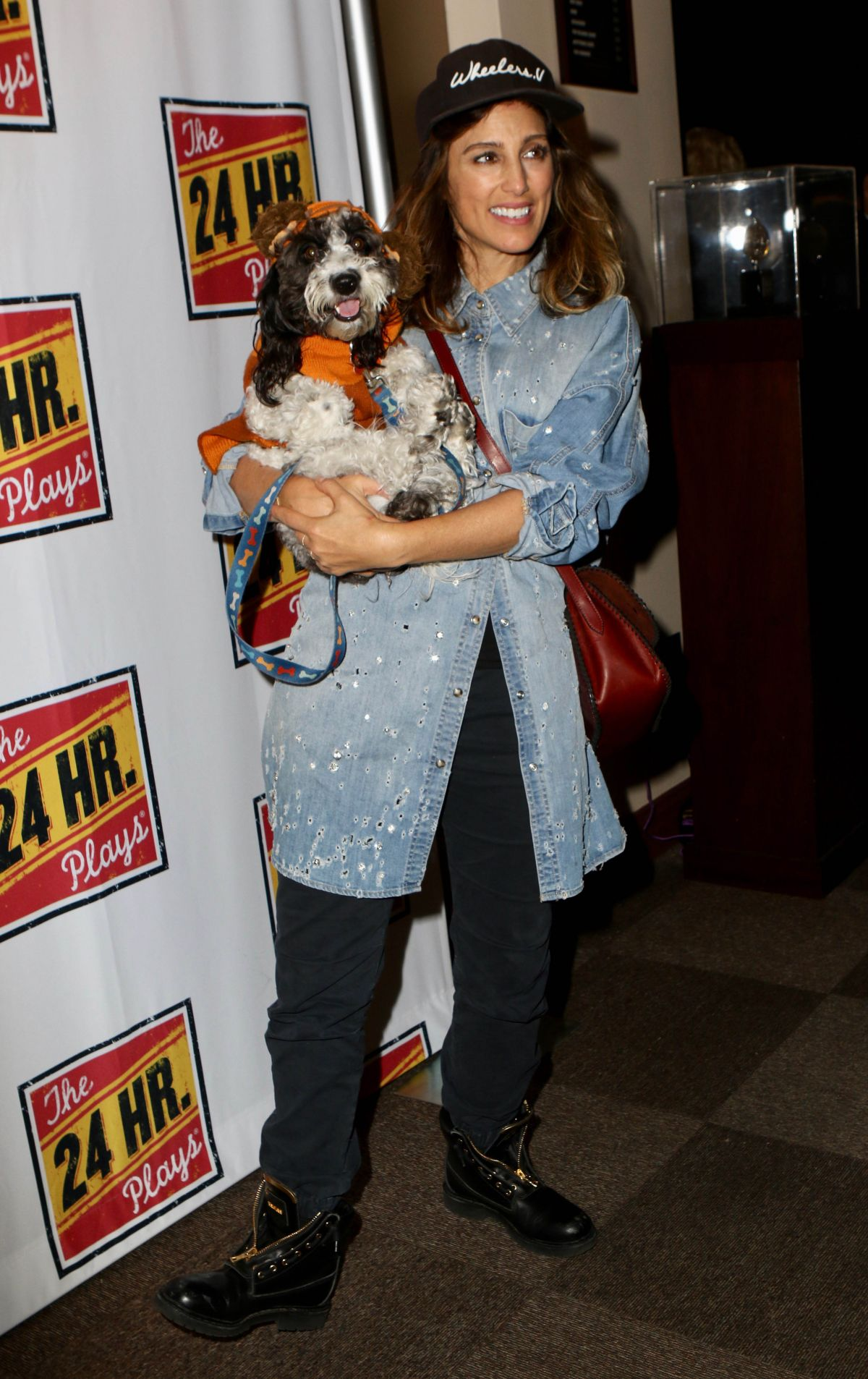 Jennifer Esposito At The 24 Hour Plays on Broadway in NYC