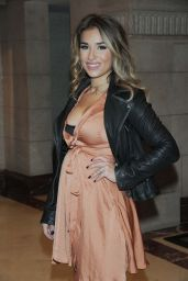 Jessie James Decker Leaving the offices of her clothing line KITTENISH, Nashville, Tennessee