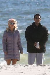 "Julianne Hough Spotted with Tyler Hoechlin on the set of ""Bigger"" in Orange Beach"
