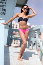 Karina Smirnoff Poses for our delight on a beach in Santa Monica