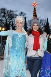 Katarina Witt At Photo session for Disney on Ice at the Botanical Garden in Berlin
