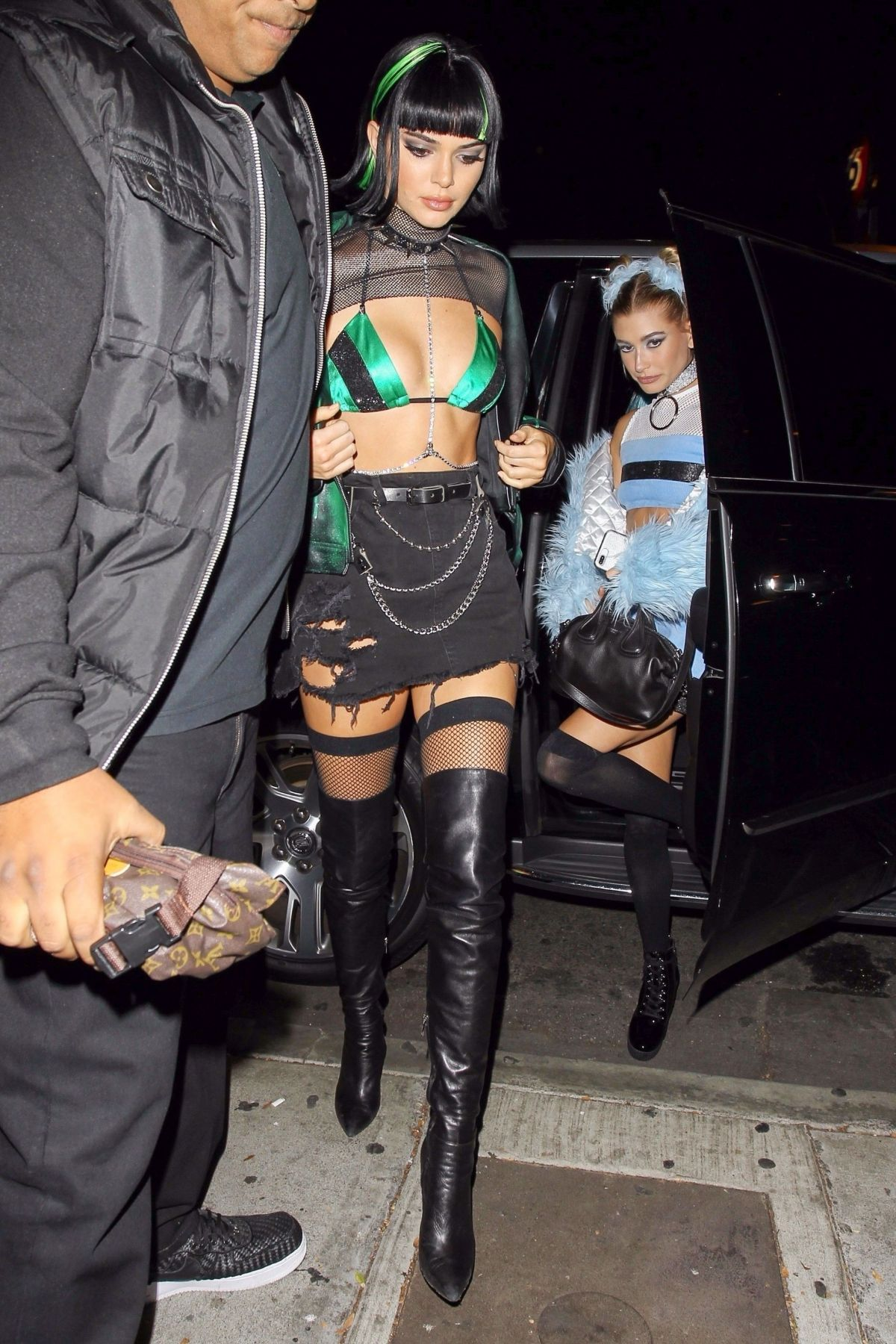 Kendall Jenner & Hailey Baldwin Attend a Halloween party in West Hollywood