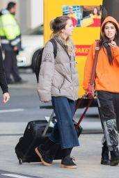 Kim Turnbull Arrives with her school class at the Tegel Airport in Berlin, Germany
