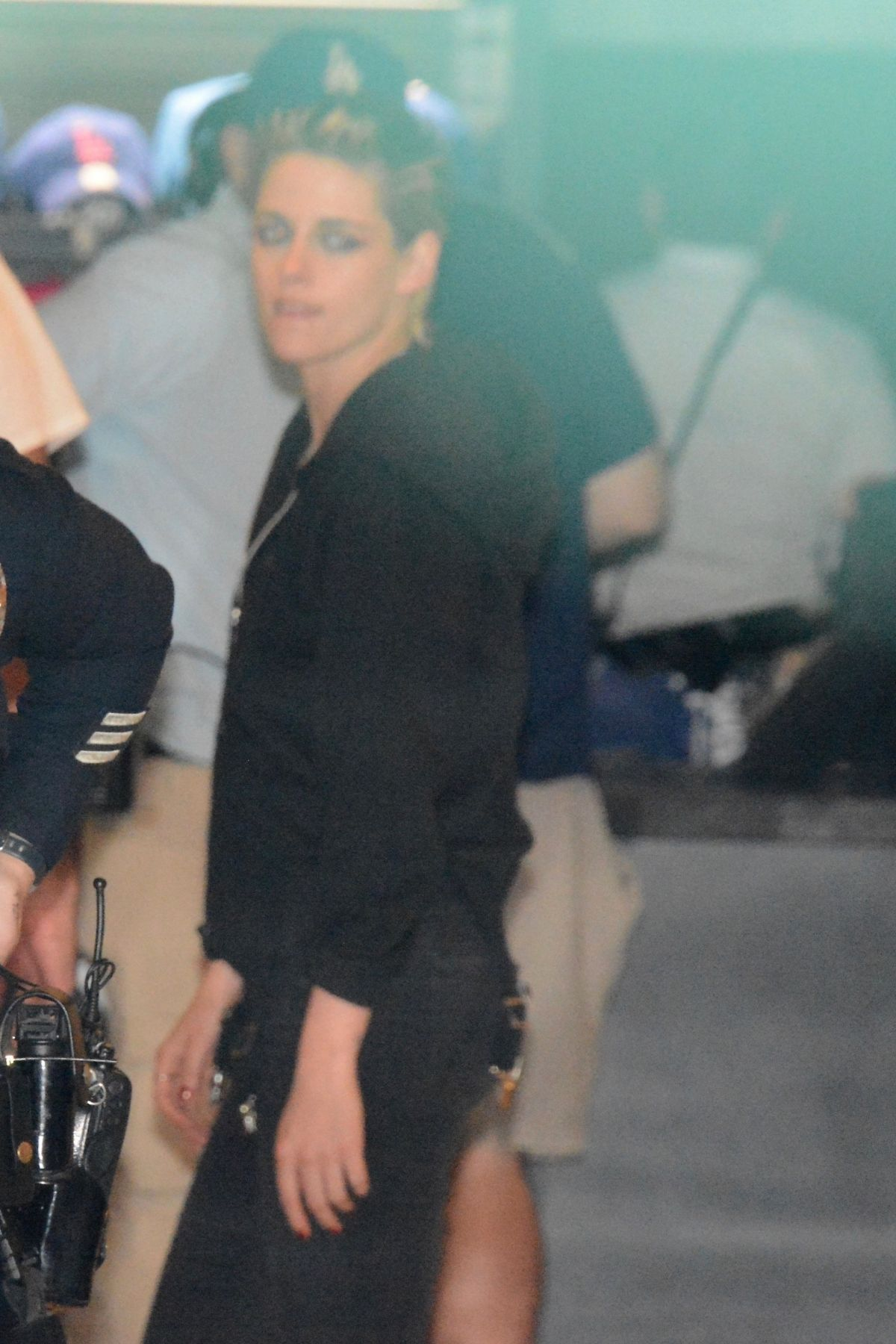 Kristen Stewart and Emily Armstrong arrive at Dodgers Stadium in Los Angeles