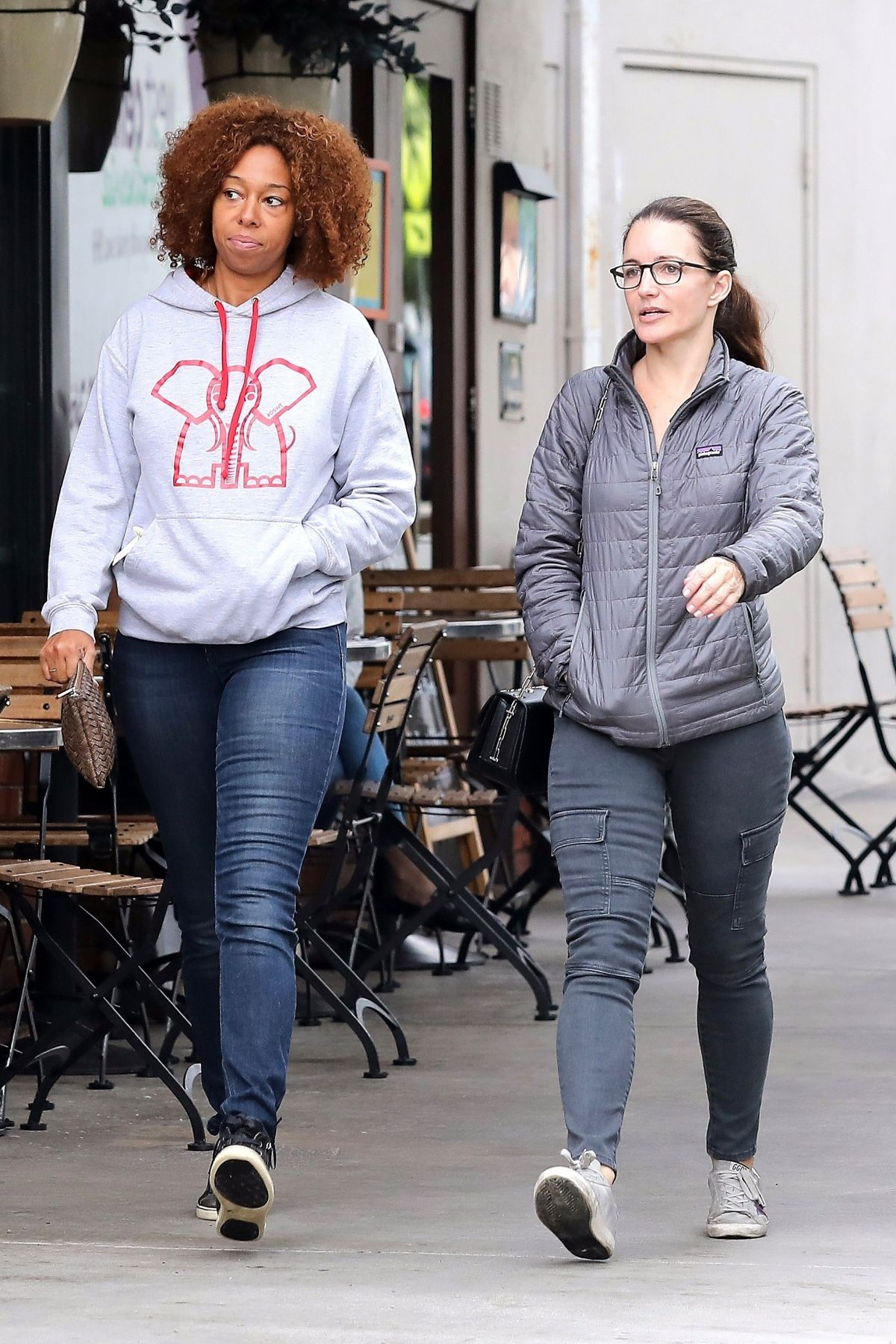 Kristin Davis Steps out with a girlfriend in Brentwood