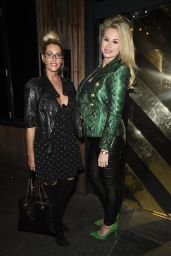 Leanne Brown & Ester Dee Seen at the Skinny Coffee Launch at Neighbourhood in Manchester
