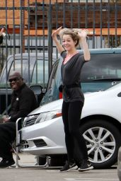 Lindsey Stirling Arrives the dance studio in LA