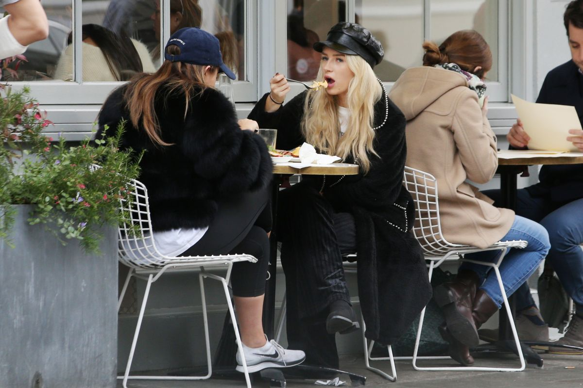 Lottie Moss and Mimi Bouchard out and about, London, UK