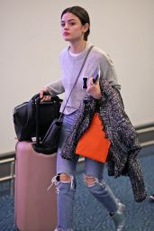 Lucy Hale Arrives back in Vancouver, Canada