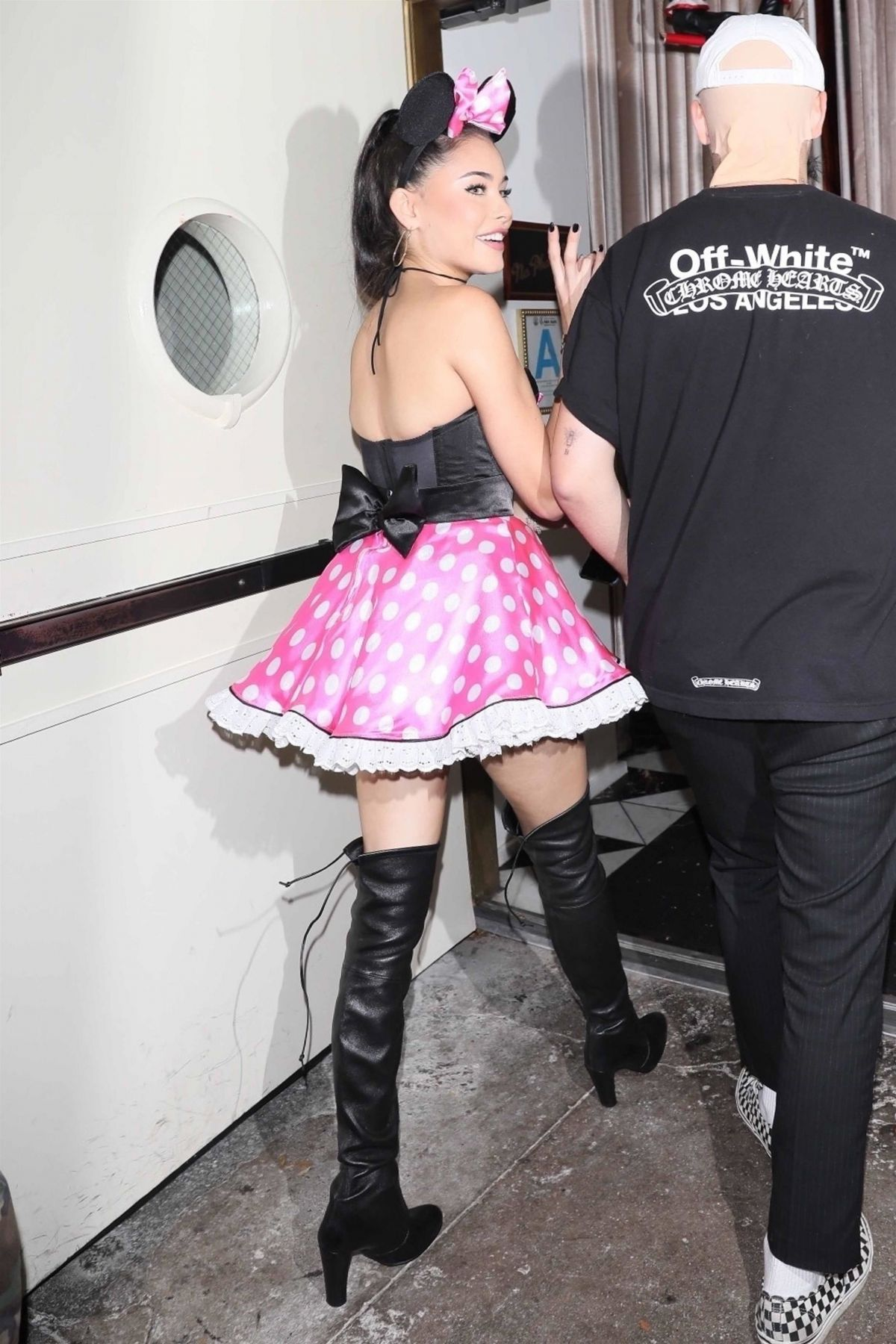 Madison Beer At a Halloween party at Delilah in West Hollywood
