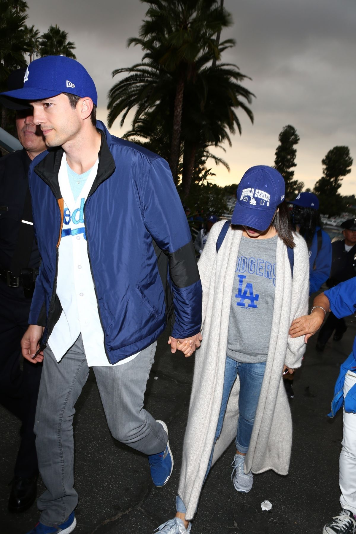 Mila Kunis Arrives for Game 6 of the World Series in Los Angeles