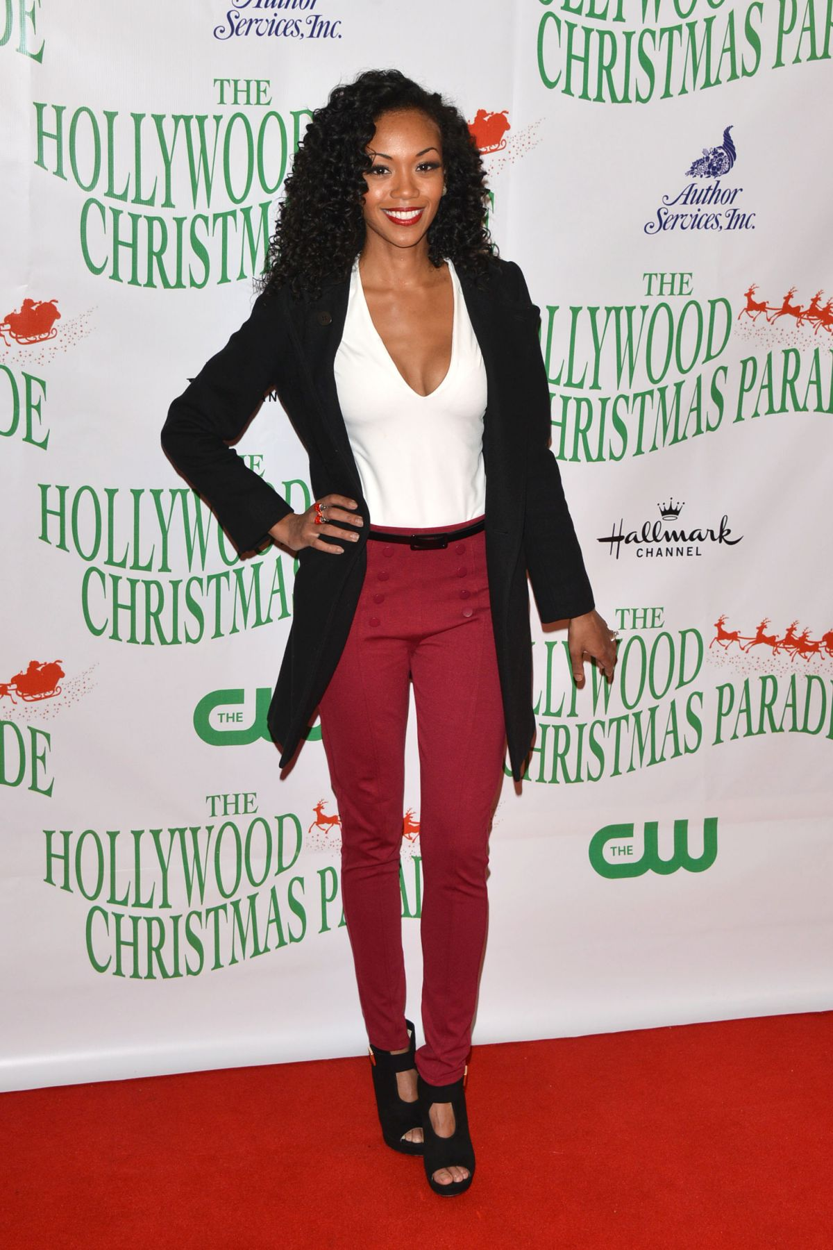 mishael morgan at 86th annual hollywood christmas parade los angeles